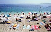 Spiaggia in agosto